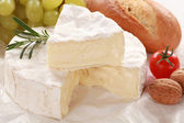 Still life with Camembert cheese — Stock Photo