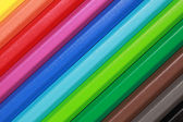Crayons form a rainbow — Stock Photo