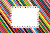 Frame of Crayons — Stock Photo