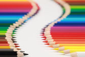 Crayons form an alley — Foto Stock