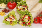 Chicken Wrap Sandwiches — Stock Photo