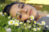 Spring girl — Stock Photo