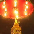 Stock Photo: Light on Buddha