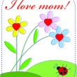 Royalty-Free Stock Vector Image: Card to the Mom Day