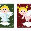 Girl and boy angels — Stock Vector
