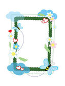 Frame with bees, vector. — Stock Vector