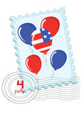 Independence Day ,Postage stamp — Stock Vector