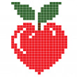 Stock Photo: Apple heart