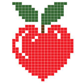 Apple heart — Stock Photo