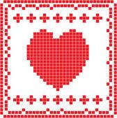 Card with heart — 图库照片