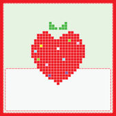 Card with strawberry — Stock Photo