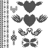 Wedding ornament , the scheme for embroidery — Stock Photo