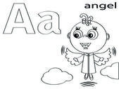Colorear alfabeto para niños, un — Foto de Stock