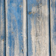 Old blue painted planks — Stock Photo