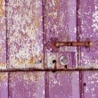 Stock Photo: Old painted, crumbled door.