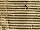 Macro de papel corrugado cartón fondo closeup — Foto de Stock