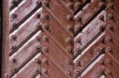 Background of ancient retro wooden brown door — Stock Photo