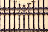 Decorative gate. Architectural metal background. — Stock Photo