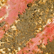 Rusty painted metal plate background. — Stock Photo