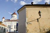 Vilnius old town houses heritage protected UNESCO — Stock Photo