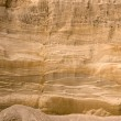 Geological layers of earth in deep sand pit — Stock Photo #8782229