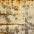Rusty tin house wall closeup vintage background — Stock Photo #8824639
