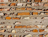 Stara cegła czerwony i tło ścian betonowych — Zdjęcie stockowe