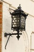 Grunge retro metal decorative lighting wall house — Stock Photo