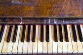Background vintage retro musical instrument piano — Stock Photo
