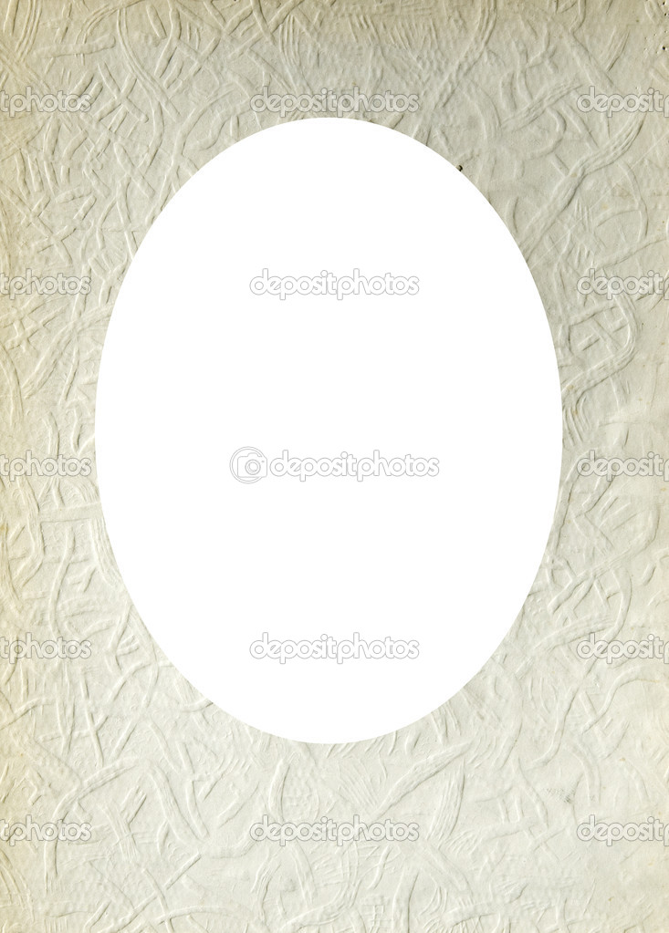 Isolated oval place for text photograph image surrounded old paper texture wallpaper wall. — Stock Photo #9448134