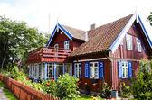 Homestead house rural countryside tourism garden — Stock Photo