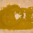 Stock Photo: Background of ancient partly yellow painted wall.