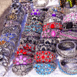 Handmade jewelry bracelets head ring outdoor fair — 图库照片