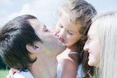 Happy Family enjoy outdoors — Stock Photo