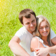 Young love couple on the meadow — Stock Photo