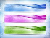 Set di banner colorato — Vettoriale Stock