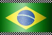 Uhlíkové vlákno černé pozadí Brazílie — Stock vektor