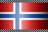 Carbon Fiber Black Background Norway — Stock Vector