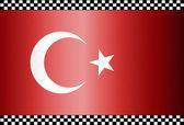 Carbon Fiber Black Background Turkey — Stock Vector