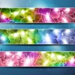 Stock Vector: Set of three banners