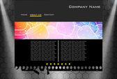 Website business template — Cтоковый вектор