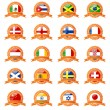 Set of world flags - Image vectorielle