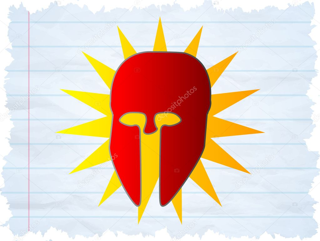 Super Hero - Illustration of a Cool Superhero mask — Stock Vector #10447163