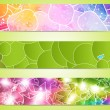 Set of three banners — Stock Vector