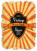 Old label — Stock Vector