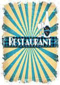 меню ресторана ретро — Cтоковый вектор