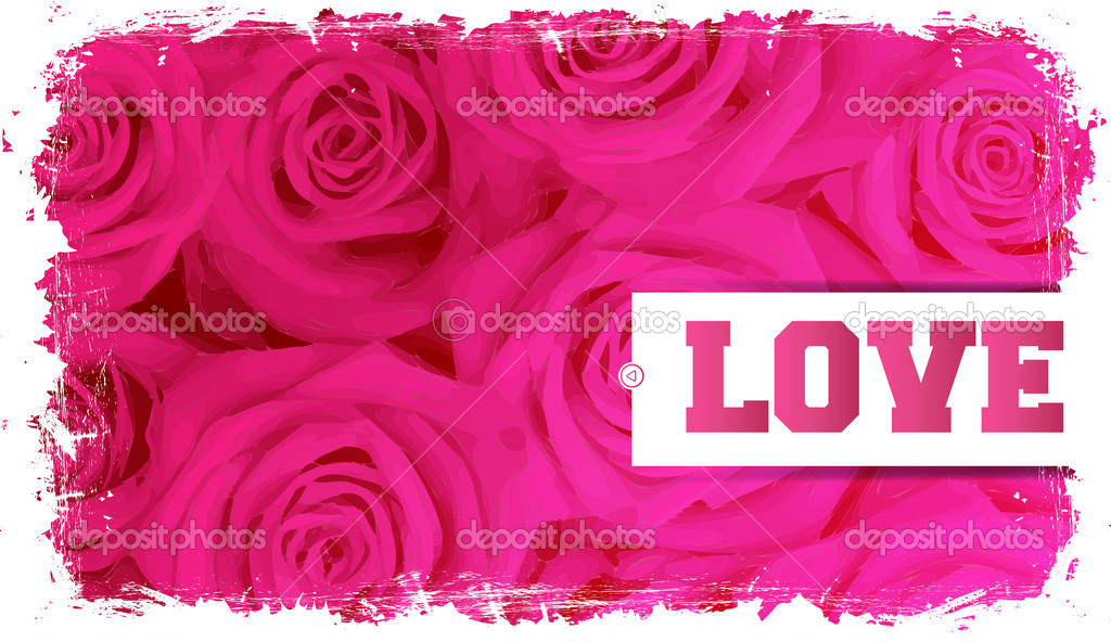 Card and roses, blank space for love messages — Stock Vector #10559414