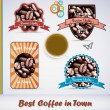 Stock Vector: Vintage Style Coffee Labels