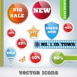 Sale Icon Set - Vettoriali Stock