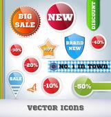 Conjunto de iconos de venta — Vector de stock